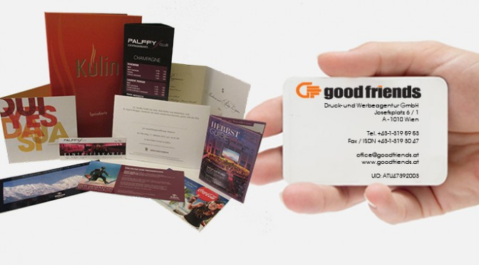 Druckerei und Werbeagentur aus Wien – GOODFRIENDS.at | Printing and advertising agency Vienna – GOODFRIENDS.at